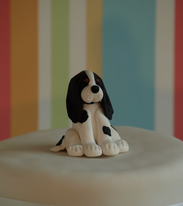 How To Make A Sitting Dog Out Of Fondant