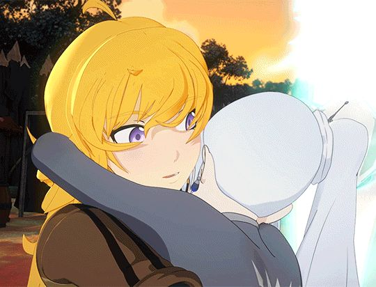 "OK PETITION TO HAVE A ""ALL TIME BEST RWBY HUGS"" VIDEO AND ITS LITERALLY JUST A 3 HOUR LOOP OF THIS AND REN AND JAUNES HUG FROM SEASON FOUR PLEASEEEE"