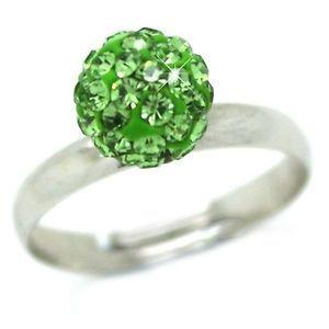 Shamballa Ring Green Free Size £1 #shamballa #ring #green #freesize #silver #fashion #accessories