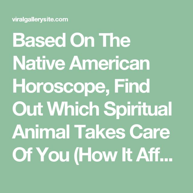 Based On The Native American Horoscope, Find Out Which Spiritual Animal Takes Care Of You (How It Affects Your Life)