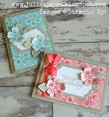 Julie Kettlewell - Stampin Up UK Independent Demonstrator - Order products 24/7: Beginner's Cardmaking Class part 2