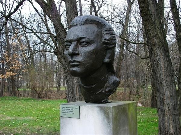 xawery dunikowski, eliza orzeszkowa (z cyklu: głowy wawelskie), 1955, brąz, królikarnia-warszawa