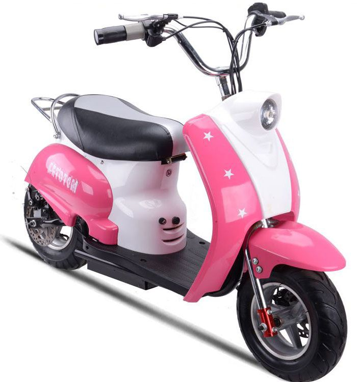 mototec 350 watt 24 volt kids electric moped scooter mt moped