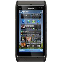 Nokia N8 Smartphone Appareil photo Carl Zeiss 12 Mpx avec flash xénon Port HDMI Zoom tactile OVI Cartes Gris foncé (Import Allemagne)
