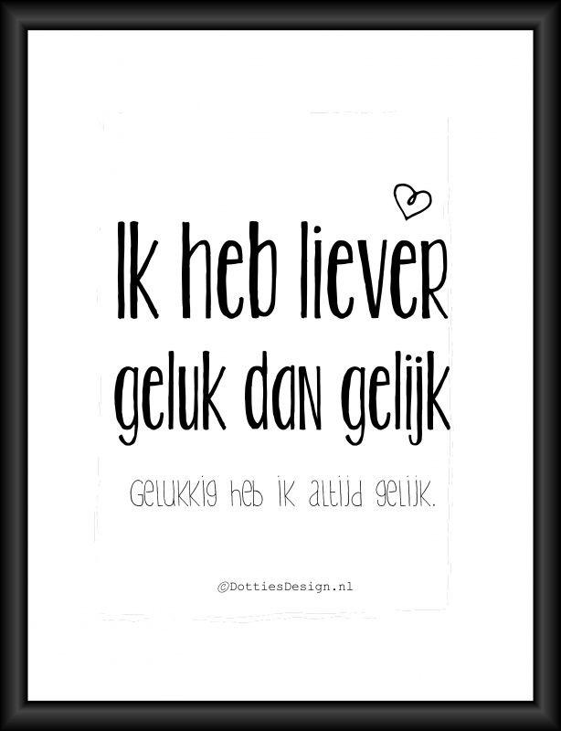 Poster liever geluk