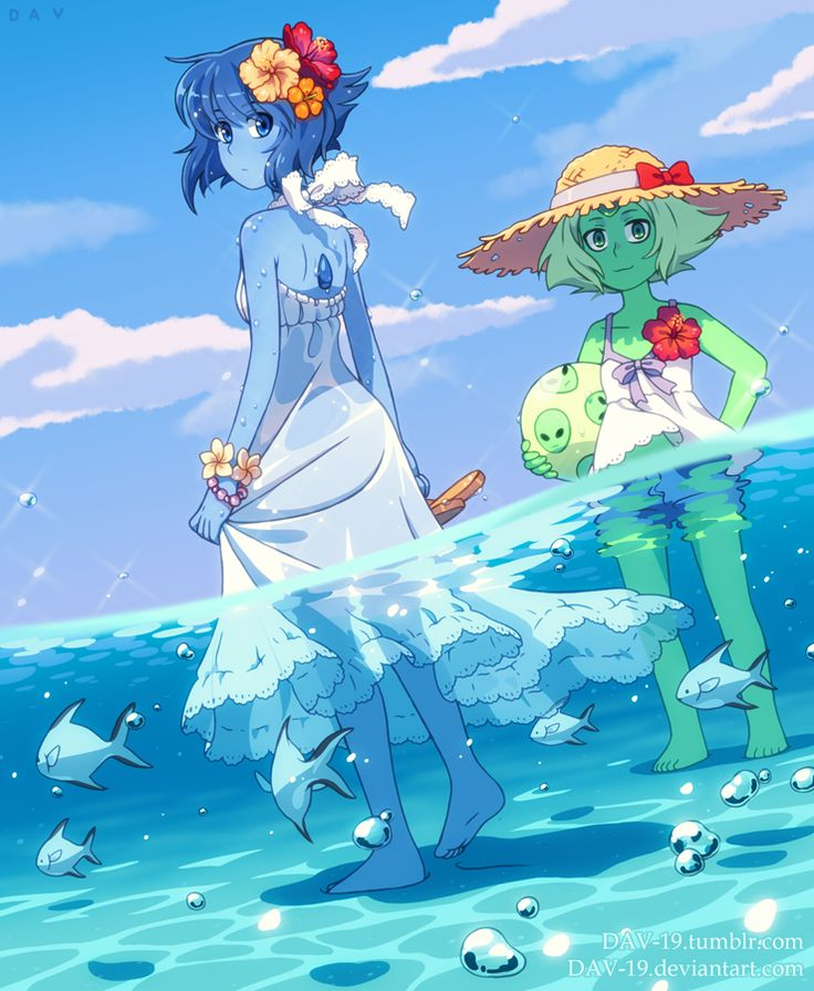 Lapis and Peridot by DAV-19.deviantart.com on @DeviantArt
