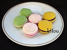 Macarons au crochet- Instruction French