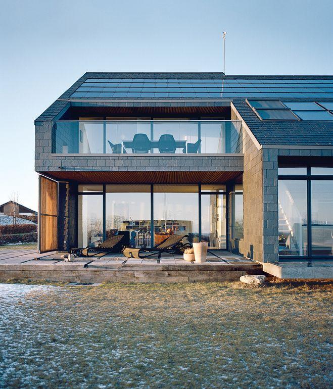 Slate Roof Modern House House Modern