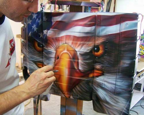Custom Airbrushing by Space City Airbrush - Houston Airbrush Artists - Custom Paint, Custom Motorcycle Paint, Custom Car Paint, Murals, Leather Jackets