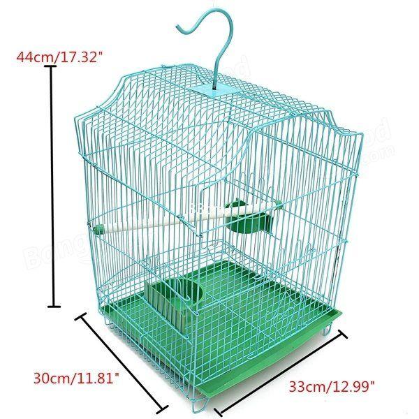 Metal Budgie Canary Parakeet Cockatiel Finch Love Bird Parrot Macaw Bird Pet Cage at Banggood sold out