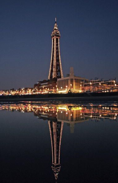 ~Blackpool Tower at Night, Blackpool, Lancashire, North West England.~