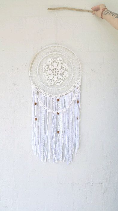 Bohemian Dreamcatcher - Boho Wall Decor - Jumbo Dreamcatcher - Crochet Boho - Cream Dreamcatcher - Dreamcatcher Decor - Boho Wall Hanging by Kishayasdreamcatcher on Etsy https://www.etsy.com/nz/listing/512545777/bohemian-dreamcatcher-boho-wall-decor