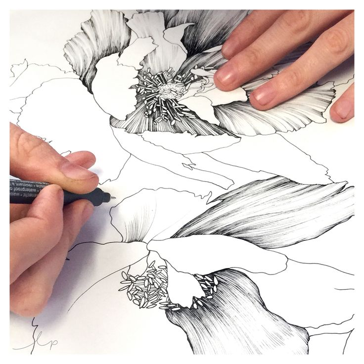 It's all about hand-drawn elements this week because we're getting super excited about our Floral Illustration for Textile Design course at The Print School next Saturday the 20th of August, 2016!