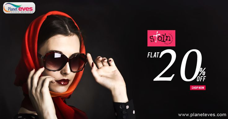 Women's #Sunglasses Upto 20% OFF from Planeteves.com. Get Stylish #Sunglasses of Stol'n brands with COD Available.