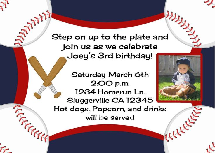 101 best Birthday Party Invitations images – Baseball First Birthday Invitations