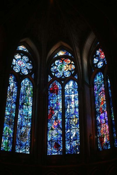 Marc Chagall Stained Glass windows, France
