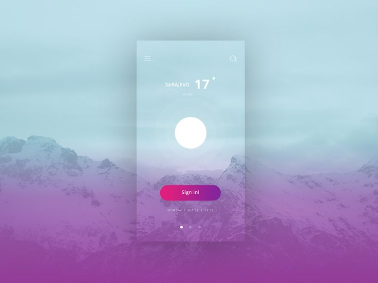 Transparent UI Weather by Futura Lab