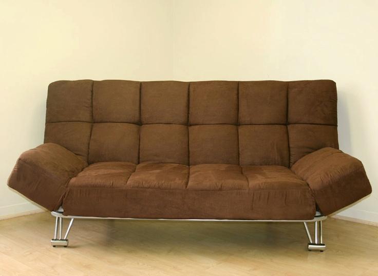 Venus Chocolate Microfiber Sofa Bed Futoncovers