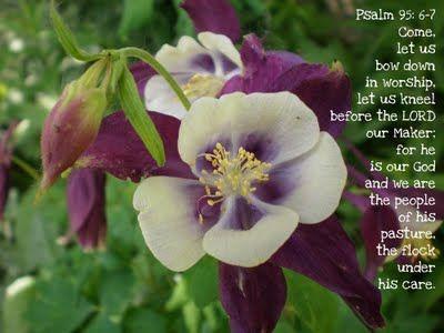 Psalm 95: 6-7
