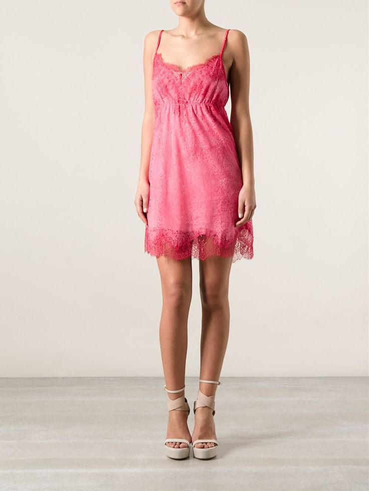 Pink silk sheer lace dress from Pink Memories