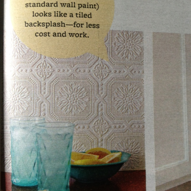 1000 images about real home ideas on pinterest paint for Textured wallpaper backsplash