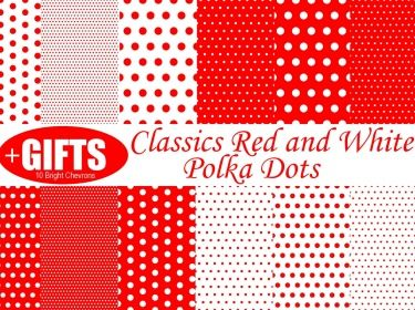 Classics Red and White Polka Dots digital paper red polka dot scrapbooking paper goods valentine polkas printable polka party Supplies DIY