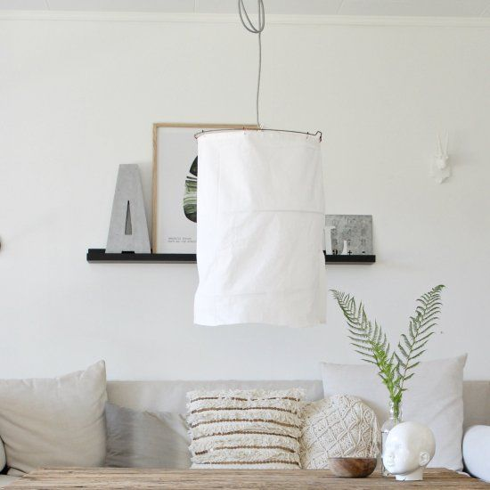 diy rustic fabric lamp