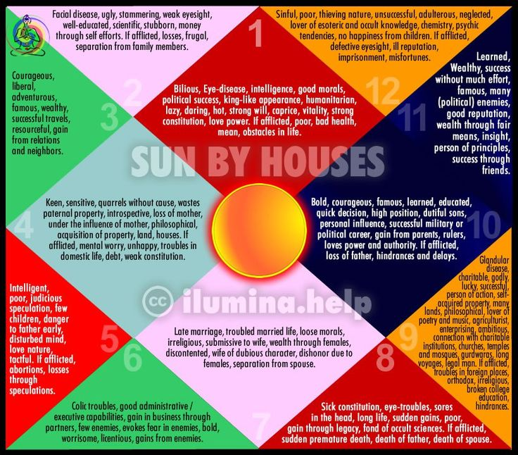 Effects of Sun Through Houses in Vedic Astrology