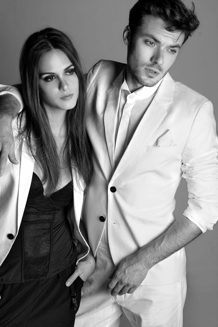 Model : Karen & Thailan / FModelsIndonesia Photographer : Asti Tiara Bachtiar  #BW #black&white #photography #model #stylist #makeup #makeupartist #hairstylist #beauty #studio #male #suit #menswear #menstyle #style #fashion #men #accessories #classic #classy #couple