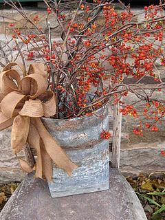 bittersweet & burlap ribbon