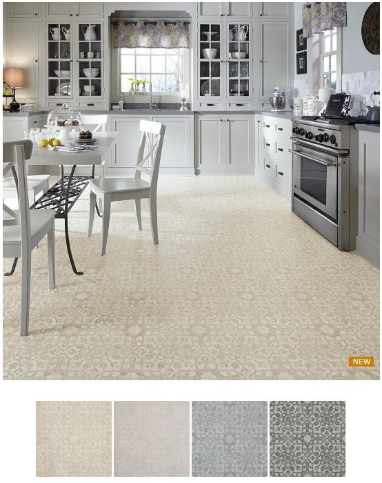 Vinyl Kitchen Flooring Part - 34: New Retro-style Resilient Flooring Options From Mannington