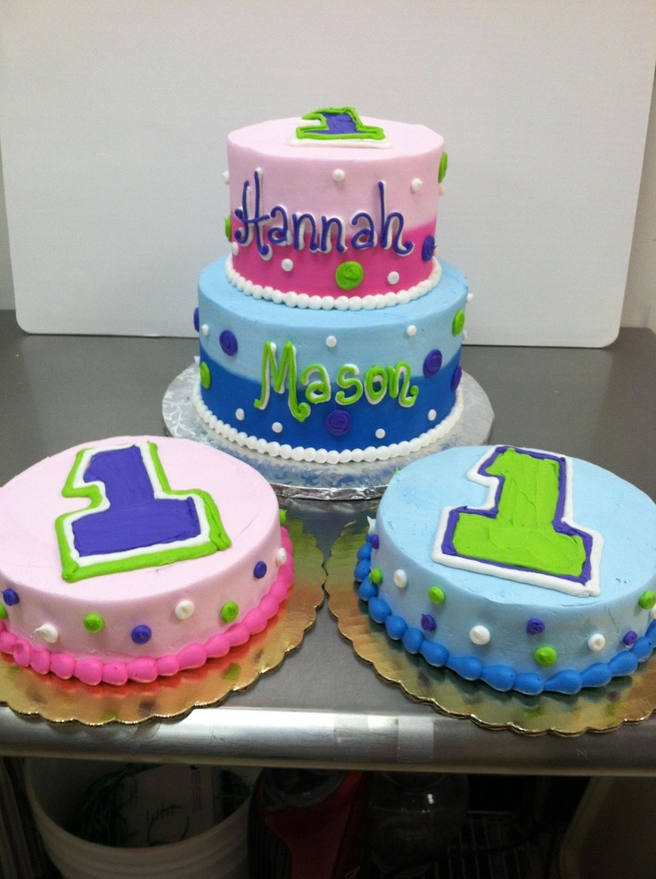 17 Best ideas about Twin Birthday Cakes on Pinterest ...