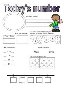 In this pack you get different 'Today's Number', where they climb in difficulty and what they focus on. It can be used every morning or at the beginning of a math class! I would suggest that you print it out and laminate them and then write on them with whiteboard markers, so that they can be re-used.