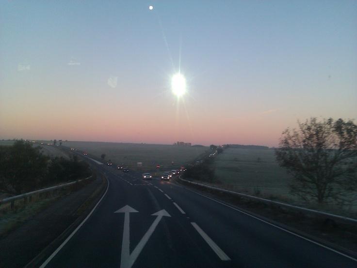 False sun over Stonhenge