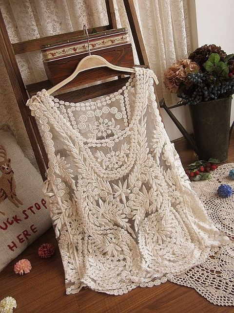COWGIRL GYPSY TANK TOP Lace Crochet Sleeveless Western Tank Top - #CowgirlChic