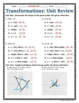 Grade 5 math transformational geometry worksheets