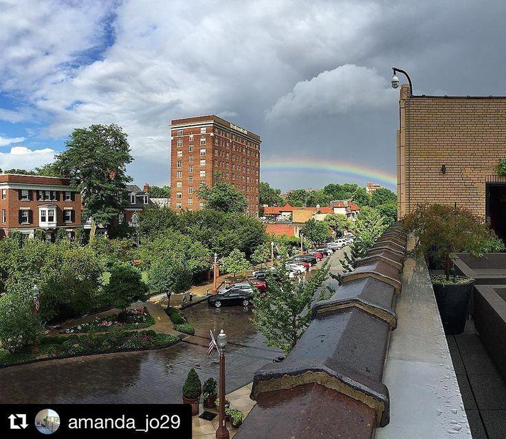 #Repost @amanda_jo29  After the storm     #stl #rain #storm #rainbow #beautiful #city #potd #view #nofilter