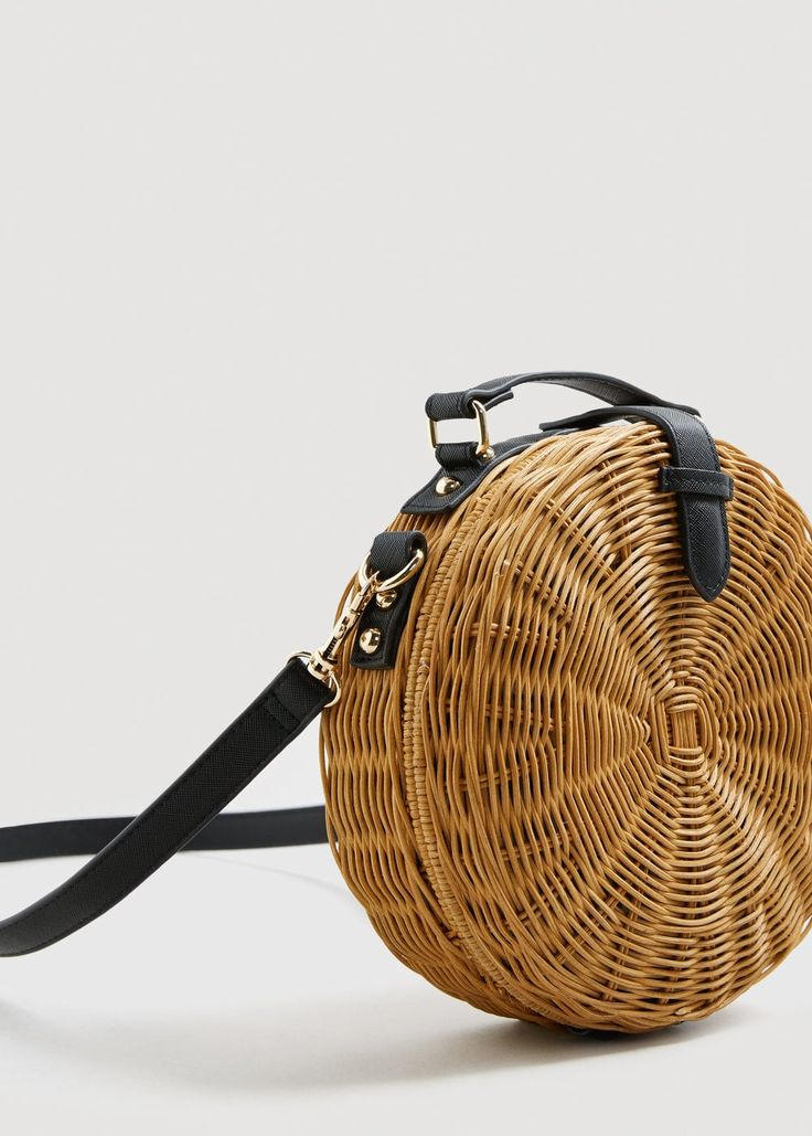 Bamboo coffer bag - Woman | MANGO United Arab Emirates