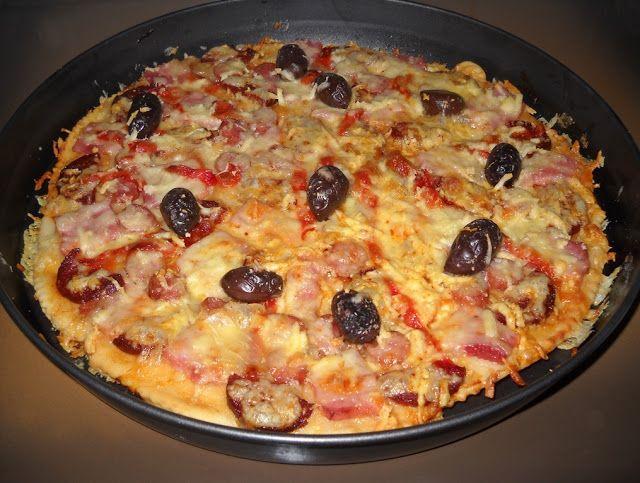 Pizza cu mezeluri - Bunătăți din bucătăria Gicuței