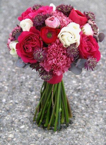 Bouquet de mariée écarlate