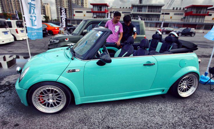 Tiffany Blue Mini Cooper ♥ dream car - App for Mini Cooper ★ Mini Cooper…