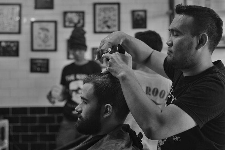 """Good mornin mr. snip snip snip witchur haircut jus as short as mine. Bay rum lucky tiger butch wax cracker jacks shoe shine jaw breaker. Magazine racks hangin round the barber shop a side burnin close crop."""