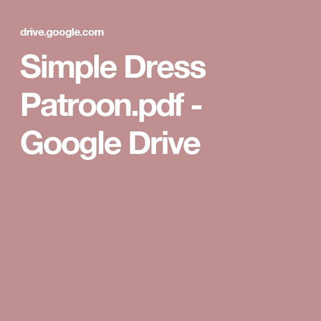 Simple Dress Patroon.pdf - Google Drive