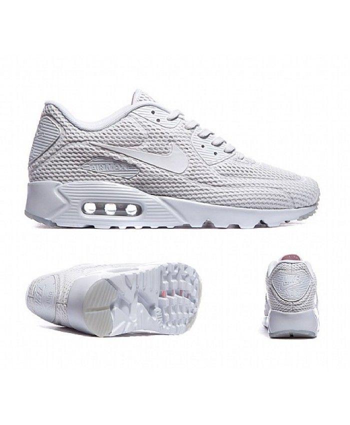 Nike Air Max 90 Ultra Breathe All White Trainer