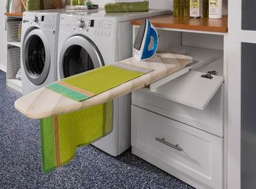 Ironing board in laundry room.contemporary laundry room by transFORM | The Art of Custom Storage