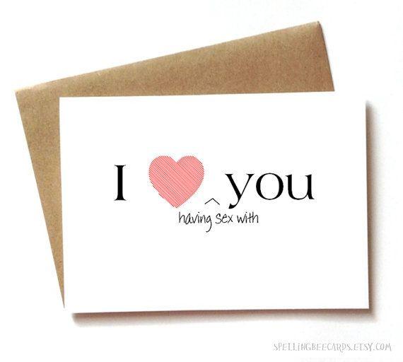 Sexy I love you card for boyfriend girlfriend by SpellingBeeCards