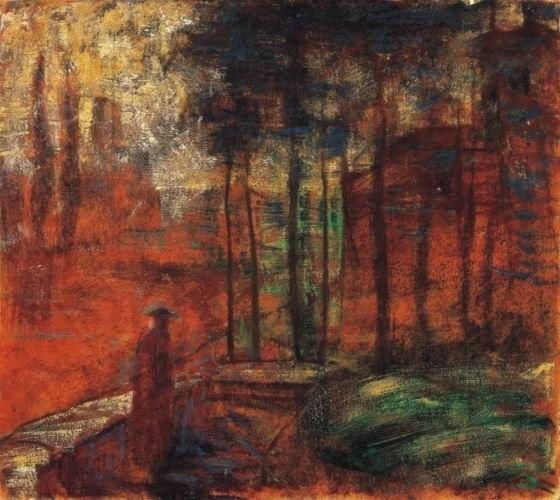 Gulácsy Lajos: BELLAGIO  1914  olaj, vászon (BTM Fővárosi Képtár)