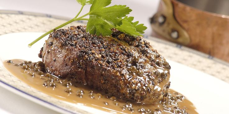 Paul Heathcote's steak au Poivre recipe is a fantastic, peppery way to serve up beef fillet. This is a quick and simple steak dinner best served with chips or roast veg