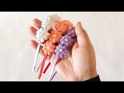 طوق ورد للبنات كروشية توك شعر للبنات Youtube Crown Jewelry Jewelry