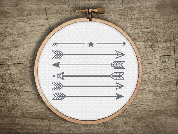 ▲▼▲ geometric arrows cross stitch pattern ▲▼▲ hand designed cross stitch pattern this pattern comes as a PDF file that you can immediately download